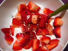 Mascarpone Creme mit Erdbeeren