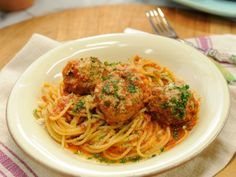 Spagetti & Meatballs Recipe courtesy of Geoffrey Zakarian  Read more at: http://www.foodnetwork.com/recipes/geoffrey-zakarian/spaghetti-and-meatballs.html?oc=linkback