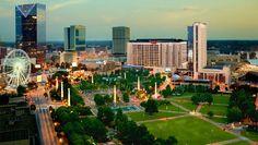 Atlanta, GA in Georgia Atlanta Attractions, Atlanta Hotels, Affordable Family Vacations, Best Vacations, Spa Resorts In Georgia, Hotels And Resorts, Best Hotels, Luxury Hotels, Centennial Olympic Park