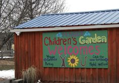 School garden sign idea...have students work together to design and create.