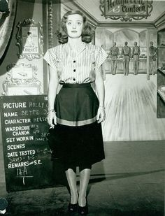 Historic Photograph of Wardrobe Photo Of Bette Davis For The Film Hollywood Canteen