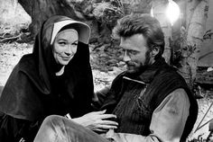 Shirley MacLaine and Clint Eastwood on the set of TWO MULES FOR SISTER SARA, 1970