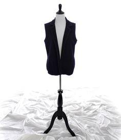 1970's vintage faux Denim Vest from Theadora Vintage. Shop theadoravintage.com
