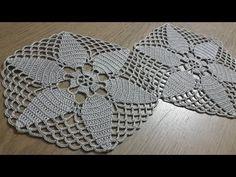 Tığişi Örgü Dantel Yapımı, Altıgen Motif yapılışı & Crochet - YouTube Crochet Doily Diagram, Crochet Motifs, Crochet Squares, Crochet Granny, Crochet Doilies, Crochet Lace, Crochet Books, Thread Crochet, Motif Hexagonal
