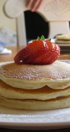 I made these this morning!  This is definitely be my go to pancakes recipe that doesn't call for buttermilk.