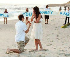PROPOSAL. take me on a vacation, surprise me with my family holding up signs<3