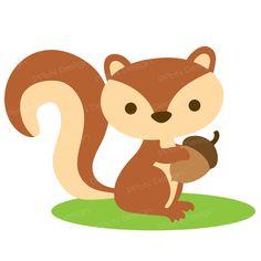 Autumn Squirrel l SVG Cutting Files