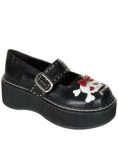 adorable bow skull mary janes.