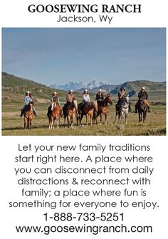 Dude Ranch in Jackson Hole, Wyoming Guest Ranch, Reunions, Jackson Hole, Family Traditions, Horseback Riding, Wyoming, How To Memorize Things, Horses, Fun