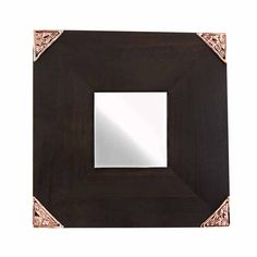Wooden mirror with decorative pattern on its four corners. The sculpture is made by the artist Marios Voutsinas. Dimensions: 25 cm x 25 cm x 1 cm Coppe Four Corners, Mirrors, Unique Gifts, Sculpture, Frame, Artist, Pattern, Handmade, Home Decor