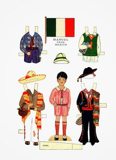 Foreign Friends* 1500 free paper dolls for small Christmas gits and DIY for Pinterest pals The International Paper Doll Society Arielle Gabriel artist ArtrA Linked In QuanYin5 *