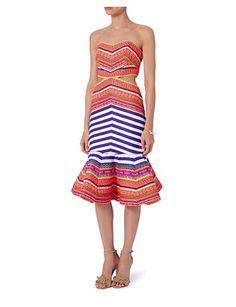 Alexis Yulia Neon Cut Out Dress