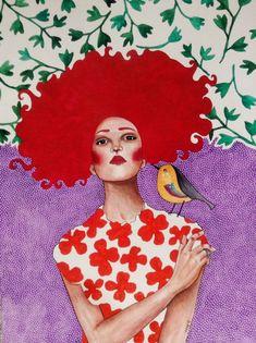 Pinzellades al món: Dones il·lustrades per Hülya Özdemir / Mujeres ilustradas / Women illustrated by Hülya Özdemir Art And Illustration, Illustrations And Posters, Watercolor Illustration, Painting Inspiration, Art Inspo, Arte Pop, Grafik Design, Portrait Art, Portraits