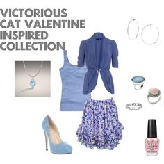 A fashion look from October 2012 featuring blue top, navy shirt and silk skirts. Browse and shop related looks. Victorious Cat, Ariana Grande Outfits, Cat Valentine, Hat Hairstyles, Fashion Stylist, Polyvore Outfits, Blue Tops, Favorite Tv Shows, My Outfit