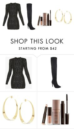 """""""♠️"""" by amethystskiess ❤ liked on Polyvore featuring Balmain, Lana and Laura Mercier"""
