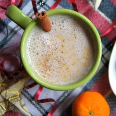 This spiced almond steamer is the perfect, guiltless way to end the night! or you can use soy milk!