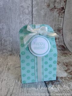 The Craft Spa - Stampin' Up! UK independent demonstrator : Stamped Easter Bakers Box...