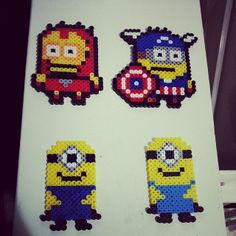 Minions perler beads by subyfied808