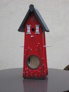Gartendekoration - Vogelvilla Vogelhaus Nistkasten Futterstelle Ga... - ein Designerstück von inse-10 bei DaWanda