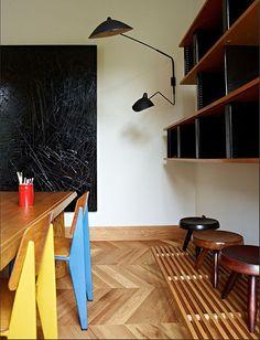 mid century,apartment,Barcelona,JEAN PROUVÉ, CHARLOTTE PERRIAND, SERGE MOUILLE