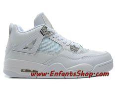 c45c123c44bc Air Jordan 4 Retro 25th anniversary Chaussures Basket Jordan Pas Cher Pour  Homme Blanc 308497-
