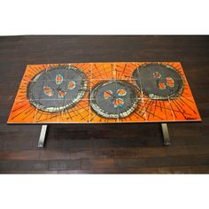 Vintage tiled top coffee table, with a wonderful abstract design. Tiled Coffee Table, Retro Coffee Tables, Mid Century Coffee Table, 70s Furniture, Mid Century Furniture, Vintage Furniture, 1960s Decor, Tile Tables, Vintage Tile