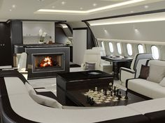 luxury jewelry 2015 | 2015 luxury plane interior fireplace