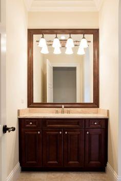 Master Bath Cortile Model Quail West Naples Florida Custom - Bathroom cabinets naples fl