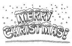 Hand-drawn vector drawing of a Roar! Christmas Drawings Images, Merry Christmas Drawing, Merry Christmas Text, Christmas Clipart, Christmas 2015, Scooby Snacks, Every Kind Of People, Comic Text, Lettering
