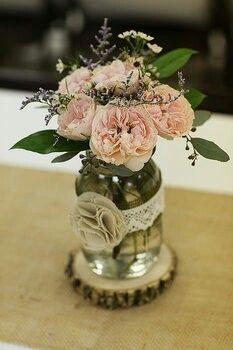 Vintage rustic Wedding decor mason jar