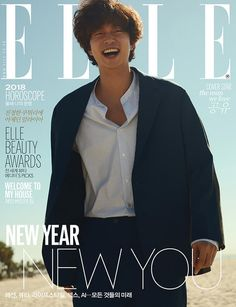 Actor Gong Yoo graced first cover of fashion magazine 'Elle'!In one cover, Gong Yoo is seen smiling brightly at the camera wi… Gong Yoo Magazines, Goblin, Goong Yoo, Cover Male, Yoo Gong, All About Kpop, Welcome To My House, Love Horoscope, Male Fashion Trends