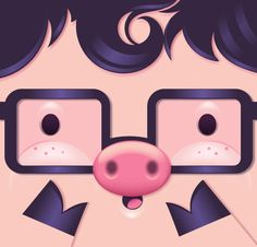 Tutorial para diseñar un cochinito con Adobe Illustrator:  http://design.tutsplus.com/tutorials/how-to-make-a-cute-pig-face-icon-with-simple-gradient-mesh-in-adobe-illustrator--cms-21952