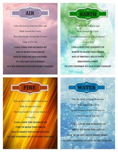 Elements: Invoking the #Elements of Air, Earth, Fire, and Water. Instant download of a set of four.