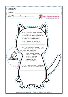 ALFABETIZAÇÃO - O GATO - LIVRINHO E ATIVIDADES - Alfabetizar com AMOR Activities For Kids, Notebook, Bullet Journal, Templates, Marvel, Letter G Activities, Cursive Letters, Writing