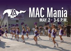 Join us for MAC Mania!  *  LIVE MUSIC by Paul Sikes & others  * GAMES  *  FOOD TRUCKS  *  PHOTO BOOTH  *  SUMMER CAMP PREVIEWS with interactive booths  *  MacAdams Athletic Center 1027 Caldwell Lane  3pm - 6pm   Activities will take place before, during, & after the varsity baseball game (which starts at 4pm)!  FREE T-SHIRT for all students from the Mustang Athletic Club!  DON'T MISS THIS FUN FAMILY EVENT!!!