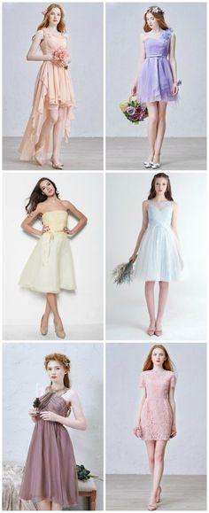 New Trend for Bridesmaid, 2017 Short Bridesmaid Dress Fashion.