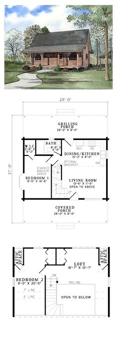 Log House Plan 61147