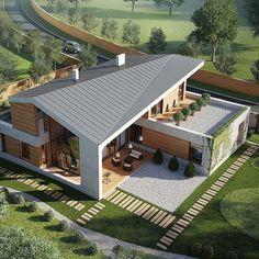 Bedroom Tv Unit Design, Lobster House, Architecture Cool, Butterfly Roof, Restaurant Exterior, Archi Design, Plein Air, Building Design, Modern House Design