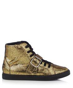Women's gold & black buckled hi-tops Sale - Vivienne Westwood