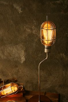 Lamps Industrial Light Wood Lamp Industrial Lighting by LukeLampCo, $169.00