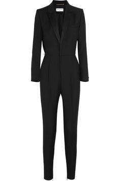 Saint Laurent|Wool-gabardine tuxedo jumpsuit|NET-A-PORTER.COM