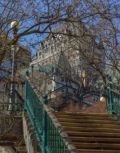 Photo of Breakneck Stairs in Quebec City, Canada. Old Quebec, Quebec City, Best Instagram Photos, Instagram Worthy, Old Churches, Beautiful Places To Visit, Canada Travel, Science Nature, Cool Photos