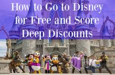Think a family vacation to Disney is out of reach? Find out how to get to Disney for free or score deep discounts.  FloridaFamilyHolidays.com  :-)
