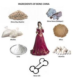 Bone china ware collectors need to look no further for some valuable insights into how this luxury porcelain is made China Clay, Lamp Socket, China Sets, China Porcelain, Porcelain Doll, Bone China, Fascinator, Art Decor, Bones