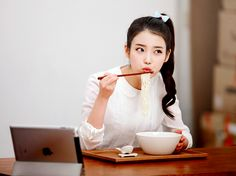 IU releases her CF song for Nongshim's Hooroorook Noodles! Most Beautiful Faces, Beautiful Voice, Korean Girl, Asian Girl, Superstar K, Iu Hair, Kim Ji Won, K Pop Star, Talent Agency