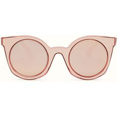 FENDI YOU ❤ liked on Polyvore featuring accessories, eyewear, sunglasses, shades, rounded sunglasses, fendi, pink round sunglasses, rounded glasses and fendi eyewear
