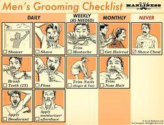 A Handy Dandy Men's Grooming Checklist
