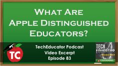 Video: What is an Apple Distinguished Educator? #ADEDU