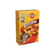 Pedigree Multi Biscrok-keksit 500g laatikko. (löytyy jokaisesta kaupasta koiran ruoka/herkku hyllyistä) en muista hintaa.