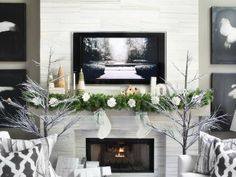 Update Your Mantel Decoration For the Holidays  2013